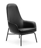 Era lounge chair high back metal