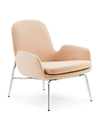 Era lounge chair low back metal