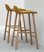 form stool upholstered timber/steel