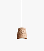 material pendant light cork