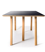 trestle table black