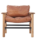 Big Fella Tan Leather Armchair