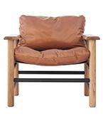 Big Fella Tan Leather Armchair
