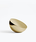 Aura Table Mirror Brass