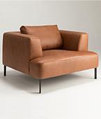 BRYDIE armchair metal legs