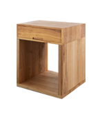 BOB BEDSIDE TABLE HIGH SQUARE