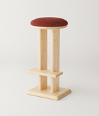 Parallel High Stool Upholstered