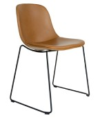 Scoop Sled Upholstered Chair