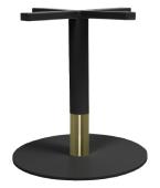 BASE COFFEE TABLE CIRCUS DISC 450 BLACK + BLACK BRASS COLLAR